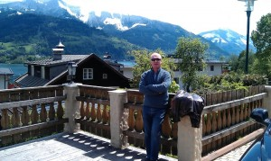 Sunny Ski Chalet Terrace in Zell am See, Austria