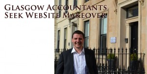 Ian outside Glasgow offices of Advantage Accounting