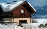 snow covered ski chalet in Zell am See